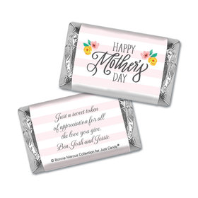 Personalized Bonnie Marcus Mother's Day Hershey's Miniatures Wrappers Floral Embrace