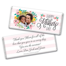 Personalized Bonnie Marcus Mother's Day Floral Embrace Chocolate Bar Wrappers Only