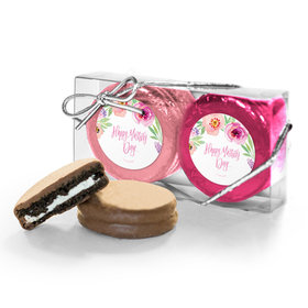 Bonnie Marcus Collection Mother's Day Floral Embrace 2PK Chocolate Covered Oreo Cookies