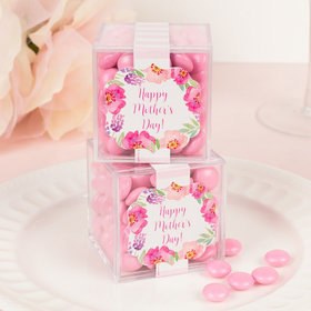 Personalized Mother's Day JUST CANDY® favor cube with Just Candy Milk Chocolate Minis