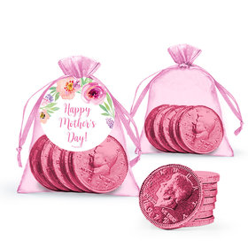 Bonnie Marcus Collection Floral Embrace Mother's Day Extra Small Organza Bag with Gift Tag