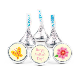 """Mother's Day Spring Flowers 3/4"""" Sticker (108 Stickers)"""