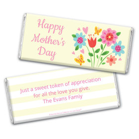 Personalized Bonnie Marcus Collection Mother's Day Spring Flowers Chocolate Bar & Wrapper