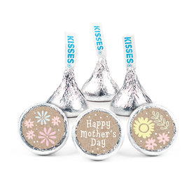 """Mother's Day Pastel Flowers 3/4"""" Sticker (108 Stickers)"""