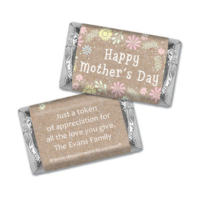 Personalized Bonnie Marcus Collection Mother's Day Hershey's Miniatures Pastel Flowers