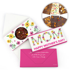 Personalized Bonnie Marcus Mother's Day Floral Gourmet Infused Belgian Chocolate Bars (3.5oz)