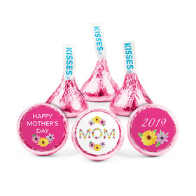 Personalized Bonnie Marcus Mother's Day Floral Mom Hershey's Kisses (50 pack)