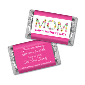 Personalized Bonnie Marcus Mother's Day Hershey's Miniatures Wrappers Flowers