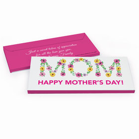 Deluxe Personalized Mother's Day Floral Mom Chocolate Bar in Gift Box