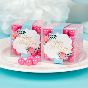 Personalized Mother's Day JUST CANDY® favor cube with Sixlets Chocolate