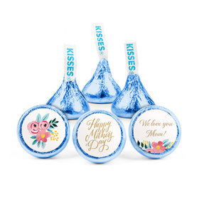 Personalized Bonnie Marcus Mother's Day Floral Hershey's Kisses (50 pack)