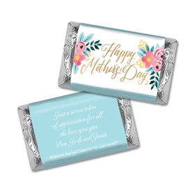 Personalized Bonnie Marcus Mother's Day Hershey's Miniatures Wrappers Floral