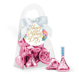 Bonnie Marcus Mother's Day Floral Hershey's Kisses Purse and Gift Tag