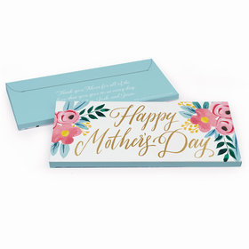 Deluxe Personalized Mother's Day Floral Chocolate Bar in Gift Box