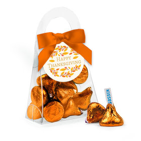 Thanksgiving Giving Thanks Hershey's Kisses Purse and Gift Tag