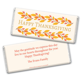 Personalized Bonnie Marcus Thanksgiving Giving Thanks Chocolate Bar Wrappers Only