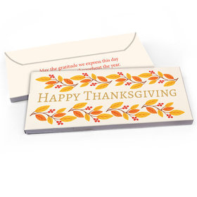Deluxe Personalized Thanksgiving Bonnie Marcus Giving Thanks Candy Bar Favor Box