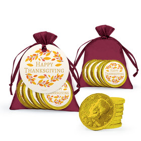 Bonnie Marcus Thanksgiving Giving Thanks Chocolate Coins in XS Organza Bags with Gift Tag