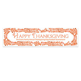Personalized Bonnie Marcus Thanksgiving Leaves 5 Ft. Banner