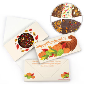 Personalized Bonnie Marcus Thanksgiving Cornucopia Gourmet Infused Belgian Chocolate Bars (3.5oz)