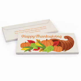 Deluxe Personalized Thanksgiving Bonnie Marcus Cornucopia Chocolate Bar in Gift Box