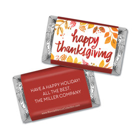 Personalized Bonnie Marcus Thanksgiving Fall Foliage Mini Wrappers Only