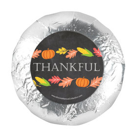 "Bonnie Marcus Thanksgiving Thankful Chalkboard 1.25"" Stickers (48 Stickers)"