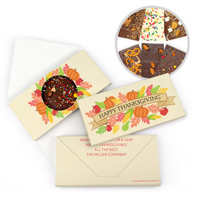 Personalized Bonnie Marcus Thanksgiving Happy Harvest Gourmet Infused Belgian Chocolate Bars (3.5oz)