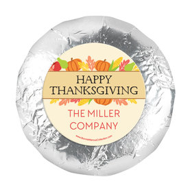 "Personalized Bonnie Marcus Thanksgiving Happy Harvest 1.25"" Stickers (48 Stickers)"