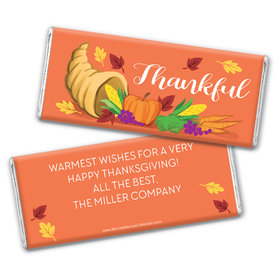 Personalized Bonnie Marcus Thanksgiving Bountiful Thanks Chocolate Bar & Wrapper