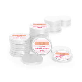 Nurse Appreciation Stripes Chocolate Coins with Stickers (84 Pack)