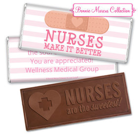 Personalized Bonnie Marcus Collection Nurse Appreciation Stripes Embossed Nurse Chocolate Bar