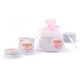Bonnie Marcus Collection Stripes Nurse Appreication Extra Small Organza Bag of Chocolate Coins