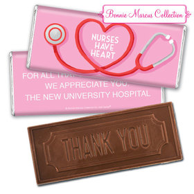 Personalized Bonnie Marcus Collection Nurse Appreciation Stethoscope Embossed Thank You Chocolate Bar