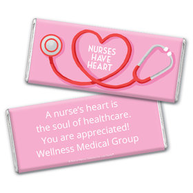 Personalized Bonnie Marcus Collection Nurse Appreciation Stethoscope Chocolate Bar Wrappers