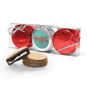 Nurse Appreciation Heart Stethoscope 3PK Chocolate Covered Oreo Cookies