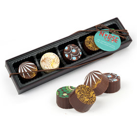 Personalized Nurse Appreciation Heart Stethoscope Gourmet Chocolate Truffle Gift Box (5 Truffles)