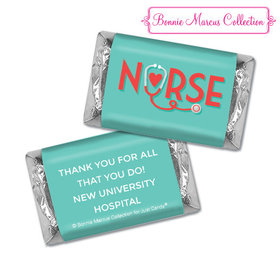 Personalized Bonnie Marcus Collection Nurse Appreciation Red Heart Hershey's Miniatures