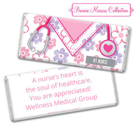 Personalized Bonnie Marcus Collection Nurse Appreciation Flowers Chocolate Bar & Wrapper