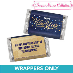 Personalized Midnight Celebration New Years HERSHEY'S MINIATURE Wrappers