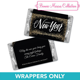 Personalized New Years Bubbles HERSHEY'S MINIATURE Wrappers