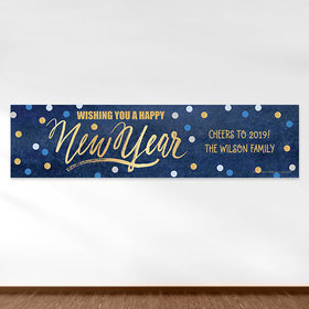 Personalized New Year's Midnight Celebration 5 Ft. Banner