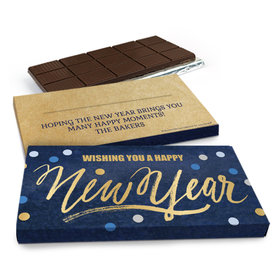 Deluxe Personalized New Year's Midnight Celebration Chocolate Bar in Gift Box (3oz Bar)