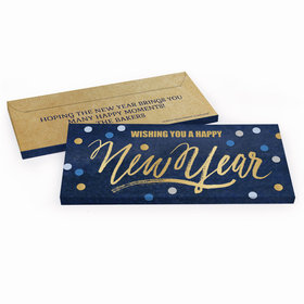 Deluxe Personalized New Year's Midnight Celebration Candy Bar Favor Box