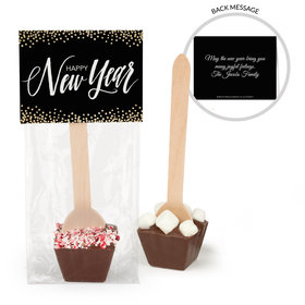 Personalized New Year's Bubbles Hot Chocolate Spoon