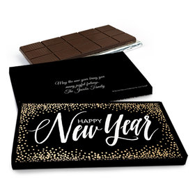 Deluxe Personalized New Year's Bubbles Chocolate Bar in Gift Box (3oz Bar)