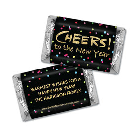 Personalized Bonnie Marcus New Years Cheery Rainbow Dots Hershey's Miniatures