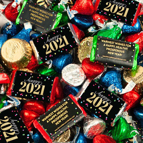 Bonnie Marcus New Year's Eve Cheer Hershey's Miniatures, Kisses and Reese's Peanut Butter Cups