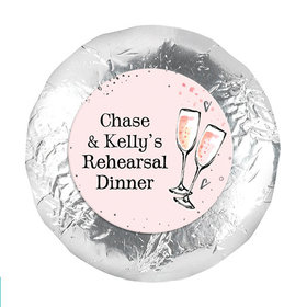 """Bonnie Marcus Collection Rehearsal Dinner The Bubbly Custom 1.25"""" Stickers (48 Stickers)"""