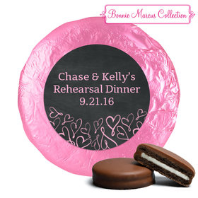 Bonnie Marcus Collection Rehearsal Dinner Sweetheart Swirl Belgian Chocolate Covered Oreo Cookies Foil Wrapped (24 Pack)